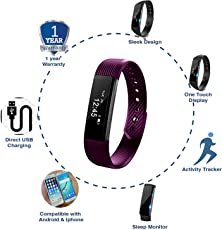 JSB Cardio Max HF110 Fitness Band Watch for iPhone & Android