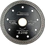 SHDIATOOL Disco Tronzador de Diamante 115MM con Malla Turbo Hoja de Sierra para Porcelana Azulejos Cerámica Granito Mármol