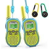 Grarg Walkie Talkie Niños,Walky Talky Niños Juguetes para 3-12 Años,3KM Largo Alcance 16 Canales Linterna LCD VOX 10 Tonos de
