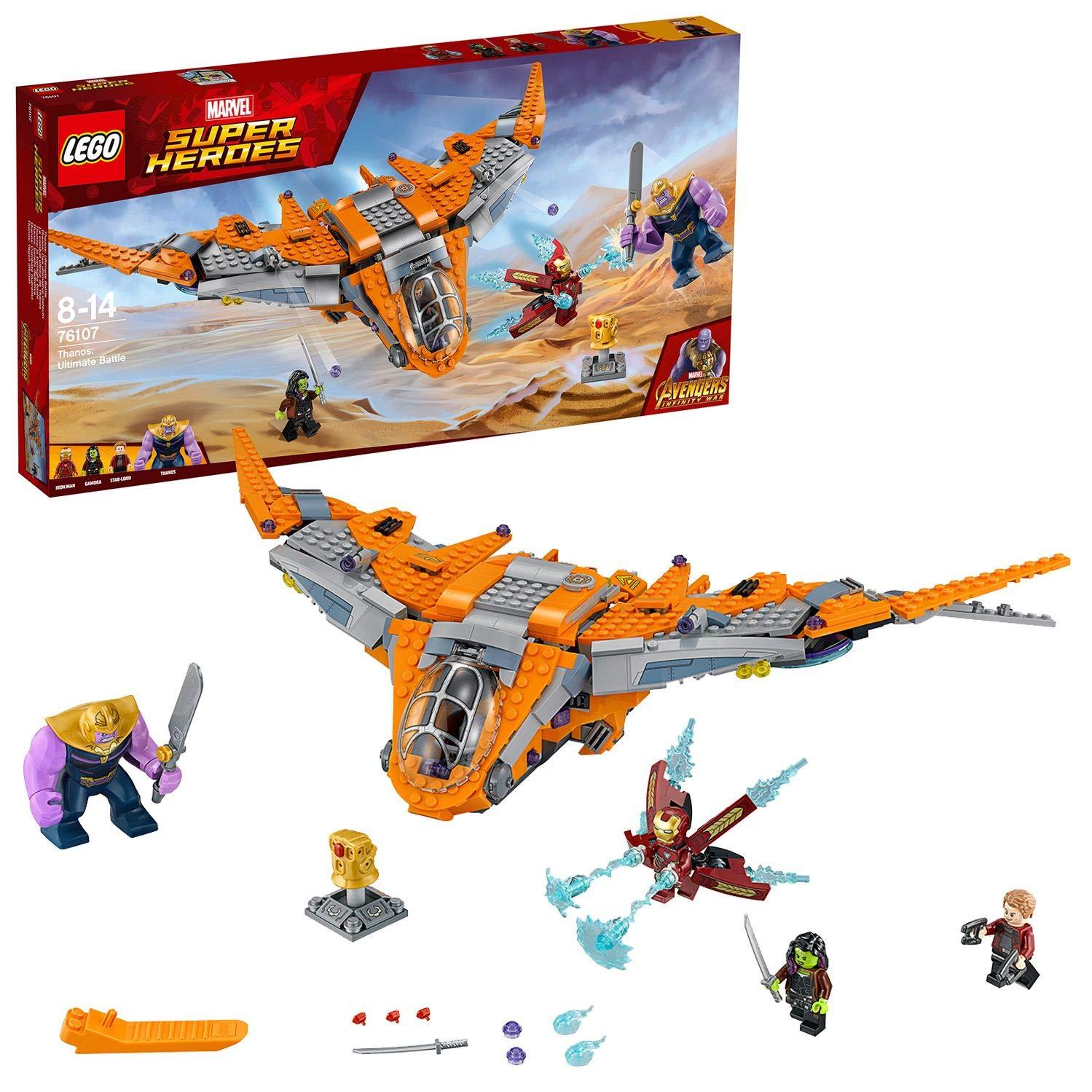 LEGO Super Heroes Thanos: Batalla definitiva, construcción con Nave de Juguete de los Vengadores, Incluye Minifiguras de…