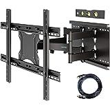 BONTEC Soporte de TV en Pared Inclinación y Giro para Televisores de 37-80 Pulgadas LCD/LED Movimiento Comlpeto - Brazo Doble