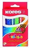 Kores Crayons Set Jumbo 14 mm 12 couleurs