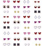 Silver Shine Multi colour Set of 36 Earrings for Women…