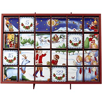 villeroy boch christmas toys memory adventskalender schlitten porzellan rot 54 x. Black Bedroom Furniture Sets. Home Design Ideas