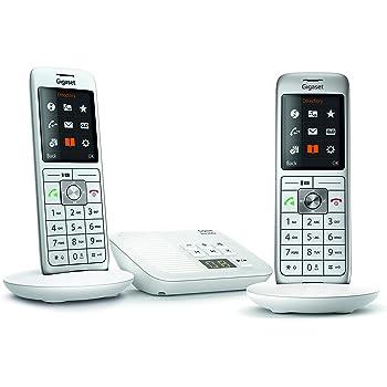 Gigaset CL660A Duo - Téléphone fixe sans fil - Répondeur - 2 combinés -  Blanc d47bcda22783