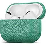 Fooyin Handmade Series Custodia in pelle per AirPods Pro, Protettiva Cover (vera pelle di fiore litchi) Antiurto Case Compati