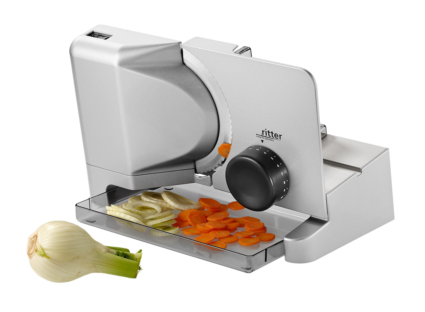 71tR1ybBiuL - ritter E 16 Electrical Food Slicer with eco Motor, Made in Germany, Metal, 65 W
