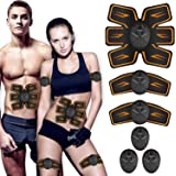 SHENGMI MATEHOM Abs Trainer,Muscle stimulator,EMS Muscle Stimulator,Abdominal Stimulator Toning Belt Abs Pad Muscle Training for Men & Women