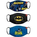 Bon Organik Batman (OFFICIAL MERCHANDISE) 2 Ply Printed Cotton Cloth Face Mask Bundle For Kids (Set Of 3)