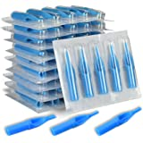 ATOMUS 50 Pieces Disposable Tattoo Nozzle Tip Mixed 3RT 5RT 7RT 9RT 3DT 5DT 7DT 9DT 5FT 7FT Plastic Needle Tip for Tattoo Nee
