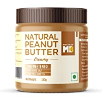 MuscleBlaze Natural Peanut Butter, Creamy, Unsweetened, 340g