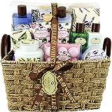 Coffret Cadeau pour Femme | Produits de Bain parfum Lavande, Thé vert, Rose| Idée de Cadeau Original pour Femmes | Idéal Anni