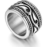 Flongo Anello di Fidanzamento per Uomo, Anello di Tenuta Grande Celtico Anello Irlandese Vikings Celtiche, Amuleto…