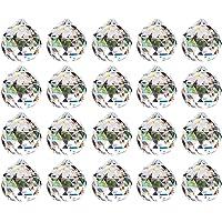 20mm Prisme de Boule de Cristal Clair - 20Pcs Suspension Suncatcher à Facettes pour Lustre de Plafond, Feng Shui, Maison…