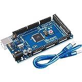 ELEGOO Mega 2560 R3 Tarjeta Placa Compatible con Arduino IDE con Microcontrolador Basada en el ATmega2560 ATmega16U2 con USB