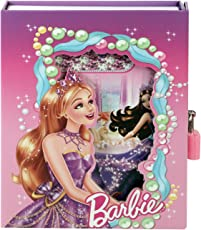 Asera Barbie Lock Diary for Girls Gifts Options (Small Size 16.5*13*3 cm)