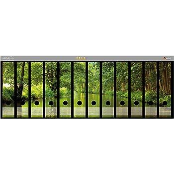Sonnenstrahlen Wald Wallario Ordnerrücken selbstklebend 12 breite Ordner
