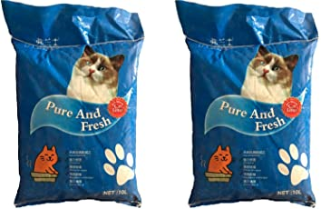 "Pure and Fresh""Imported"" Cat Litter Pack of 3 (10L Each)"