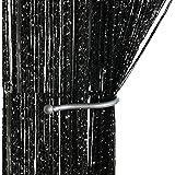 AIZESI Rideau de Porte Anti Mouche,String Rideau Fil Threadstore Rideaux Fenêtre 90x200cm Porte Blanc (Noir#1)