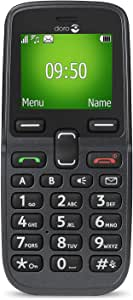 Doro PhoneEasy 613 Mobiltelefon im eleganten Klappdesign (2 Megapixel Kamera, große Tasten und Display, Notruftaste) schwarz