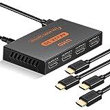 Rozdzielacz HDMI 1 w 4 wyjścia, rozdzielacz HDMI Full HD obsługuje 4K 30Hz Full Ultra HD 1080P, 4-portowy rozdzielacz HDMI ko