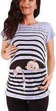 M.M.C.. Baby Flucht - Lustige Witzige süße Umstandsmode/Umstandsshirt mit Motiv für die Schwangerschaft/T-Shirt Schwangerschaftsshirt, Kurzarm