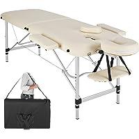 TecTake Table de Massage Pliante Aluminium Cosmetique Lit de Massage Portable + Housse de Transport - diverses couleurs au choix - (Beige | No. 402787)