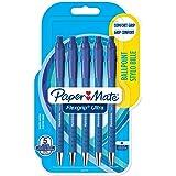 Paper Mate Flexgrip Ultra Stylo Bille Pointe Moyenne Bleu Lot de 5