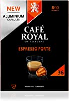 Café Royal Espresso Forte 36 Capsules en Aluminium Compatibles avec le Système Nespresso (R)*; Intensité: 8/10