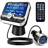 Clydek Trasmettitore FM per Auto, Wireless Bluetooth 5.0 Adattatore per Autoradio con Doppia Porta di Ricarica QC3.0 e 5V/2.4