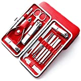 Hudabeauty Manicure Pedicure Nail Tools With Leather Case Color May Vary, 16 Pcs