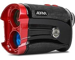 AOFAR GX-2S Golf Range Finder with Slope On/Off,Flag Lock with Vibration, 600 Meters/Yards Range Finder,Gift Packaging