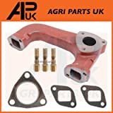 APUK Exhaust Manifold + Gaskets & Studs Compatible with Massey Ferguson 133 135 148 152 240 Tractor