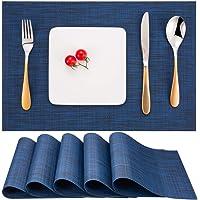 Myir JUN Set de Table Lot de 6, Set Table Lavable Résiste à la Chaleur Antidérapant Tissé Sets de Table PVC Vinyle pour…