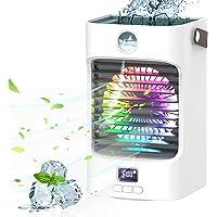 Mobile klimageräte Air Cooler, 4 in 1 Air Conditioner mit 120° Drehfunktion, Tragbare Luftbefeuchter und Luftreiniger…