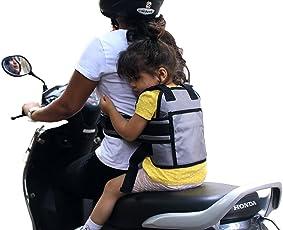 URBAN KINGS Kids 2 Wheeler Front Standing and Sitting Behind Safety Seat Belt (Grey)