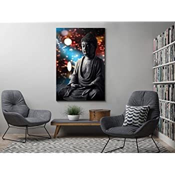 999Store Printed Buddha Statue Wooden Stretched Painting (91.44 cm x 3.81 cm x 60.96 cm)