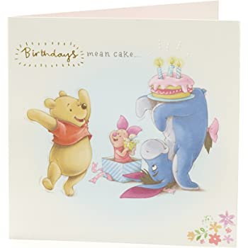 Birthday Card For Friend Winnie The Pooh Birthday Card Featuring