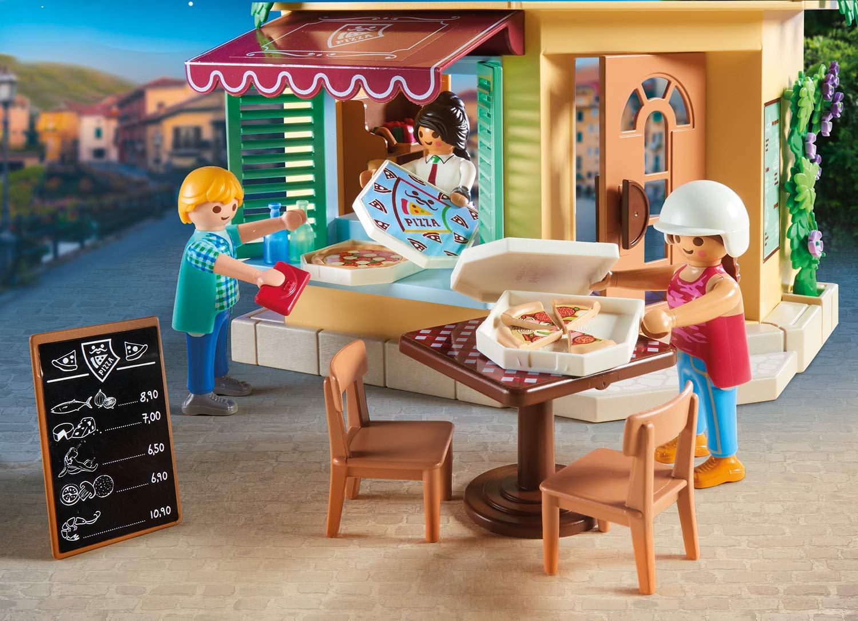 Playmobil City Life 70336 - Pizzeria con Tavoli all'Aperto con Effetti Luminosi, dai 4 anni 4 spesavip