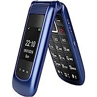 GSM Seniorenhandy Klapphandy ohne Vertrag,Großtasten Mobiltelefon Einfach und Tasten Notruffunktion,Dual-SIM 2.4 Zoll…