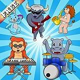 Musik für Kinder Puzzle-Spiel : Puzzle-Spiele mit Haustieren und Musikinstrumenten ! KOSTENLOS