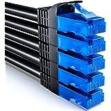 deleyCON 5x 1m CAT6 CAT6 Netwerkkabelset - U-UTP RJ45 CAT-6 LAN-Kabel Patchkabel Ethernetkabel DSL Switch Router Modem Repeat