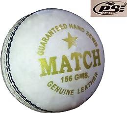 PSE Priya Sports Leather White Tournament Cricket Ball