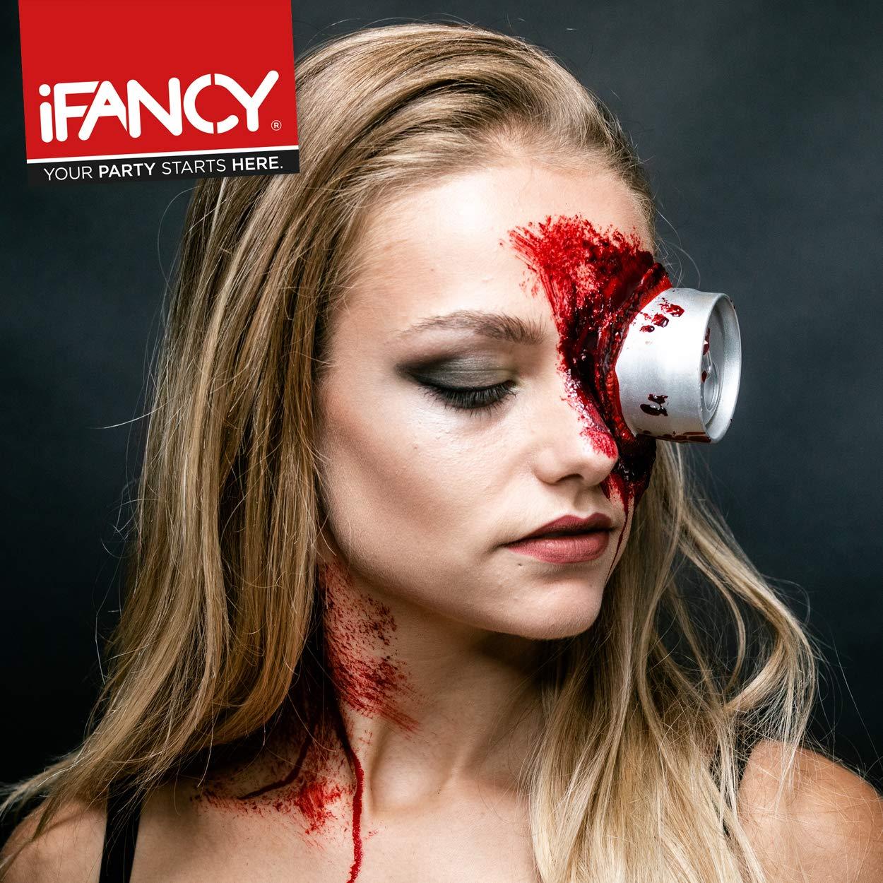 Halloween Schminkset Blutige Dose im Auge oder Kopf - Horror Makeup mit Dose, Kunstblut & Latexmilch
