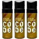 Wild Stone Code Gold Body Perfume SprayforMen, Pack of 3 (120ml each)