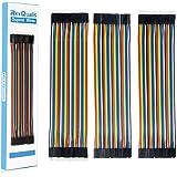 REXQualis 120 Piezas de Cable Dupont, 40 Pines Macho-Hembra, 40 Pines Macho-Macho, 40 Pines Hembra-Hembra, Cables Puente para