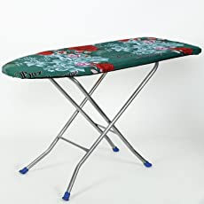 NHR's Heavy Duty Foldable Ironing Board (Green) with Iron Rest Tray
