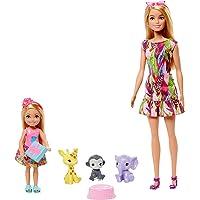 Barbie Famille l'Anniversaire Perdu de Chelsea coffret avec mini-poupée, poupée Barbie, 3 figurines animaux, un gâteau…