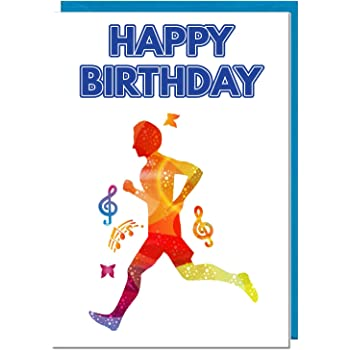 Male Runner Birthday Card By Molly Mae YS05 Amazoncouk Office