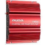 auna C500.2 • Car HiFi Verstärker • 2-Kanal Auto-Endstufe • Car Amplifier • Leistung: 2 x 95 Watt RMS • regelbarer Hoch- und Tiefpass-Filter • Frequenzbereich: 10 Hz - 30 kHz • brückbar • rot